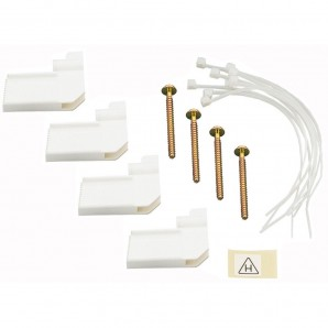 Accessories for electric boxes - Conjunto de fijación de caja empotrada nedbox: 4 garras + bridas sujeta cables LEGRAND 001490