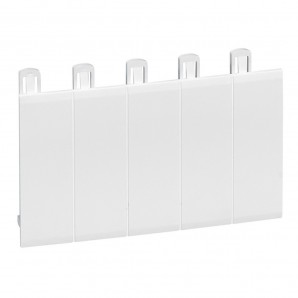 Accessories for electric boxes - Obturador 5 módulos blanco ral 9010 LEGRAND 001660