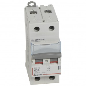 Interruptor seccionador DX³-IS 2P 400 V 63 A 2 módulos.LEGRAND 406441