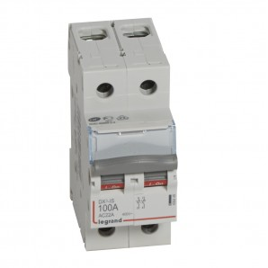 Interruptor seccionador DX³-IS 2P 400 V 100 A 2 módulos.LEGRAND 406449
