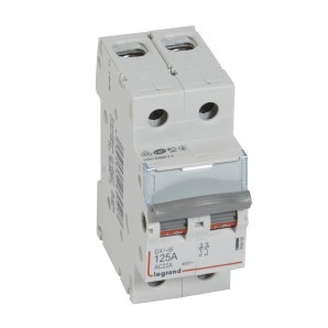 Interruptor seccionador DX³-IS 2P 400 V 125 A 2 módulos.LEGRAND 406450