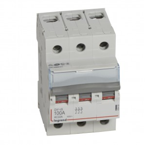 Interruptor seccionador DX³-IS 3P 400 V 100 A 3 módulos.LEGRAND 406469