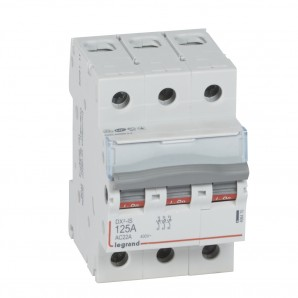 Interruptor seccionador DX³-IS 3P 400 V 125 A 3 módulos.LEGRAND 406470