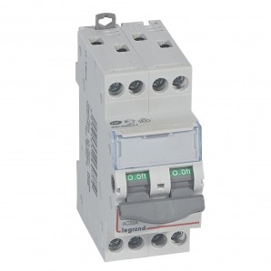 Interruptor seccionador DX³-IS 4P 400 V 20 A 2 módulos.LEGRAND 406477