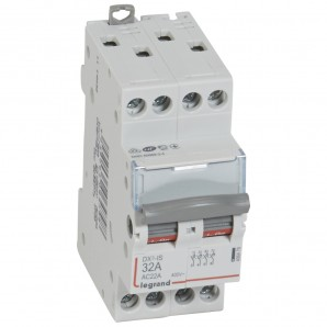 Interruptor seccionador DX³-IS 4P 400 V 32 A 2 módulos. LEGRAND 406479