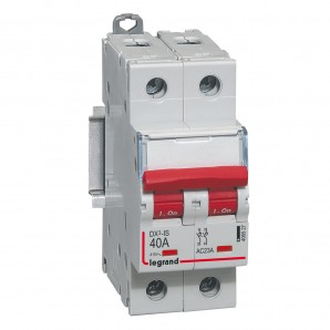 Interruptor seccionador DX³-IS -con disparo a distancia 2P -400 V- 40A – 2 módulos.LEGRAND 406527
