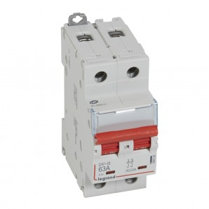 Interruptor seccionador DX³-IS -con disparo a distancia 2P -400 V- 63A – 2 módulos.LEGRAND 406528