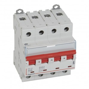 Interruptor seccionador DX³-IS -con disparo a distancia 4P -400 V- 40A – 4 módulos.LEGRAND 406543