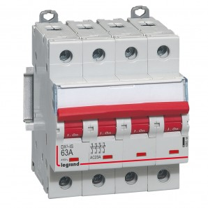 Interruptor seccionador DX³-IS -con disparo a distancia 4P -400 V- 63A – 4 módulos.LEGRAND 406544