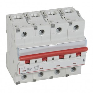 Interruptor seccionador DX³-IS -con disparo a distancia 4P -400 V- 125A – 6módulos.LEGRAND 406547