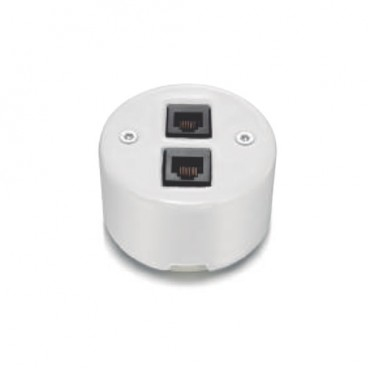 Fontini Garby | RJ45 double socket category 6 white 30-707-17-2