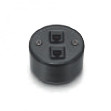 Fontini Garby | RJ45 double socket category 6 BLACK 30-707-27-2