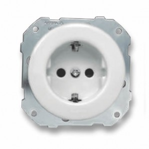 Fontini Do fitting installation - Fontini DO embed | Plug base 2P + TT 16A white 34-212-17-2