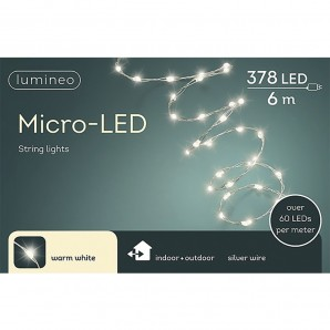 Lighting - Guirnalda micro led extra brillante exterior blanco calido 600cm-378l EDM 71067