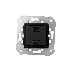 Mechanism Simon 82 - Cargador USB doble 5V/DC 2.1A tipo A hembra SIMON 7511096-039
