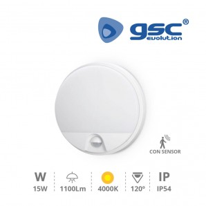 Applique - Aplique pared con sensor Detian 15W 4200K Blanco GSC 200205014