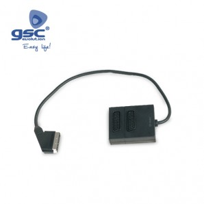 Scart adapter with two sockets GSC 2600917