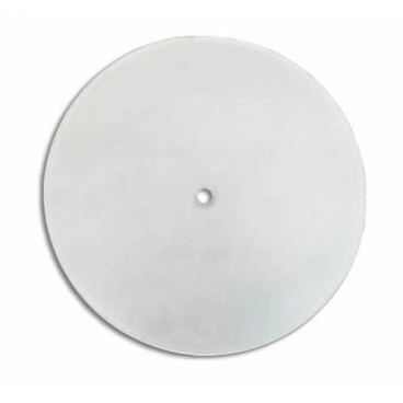 Round curved matte glass with central hole 25 cm LB 529522