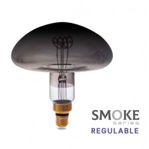 Bombillas - Bombilla de led Vintage Smoke platillo XL 8W E27 2700K regulable GSC 200605004