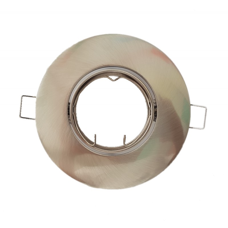 Adjustable round recessed ring NICKEL 105 mm for LED bulb CONALUX 4024-02