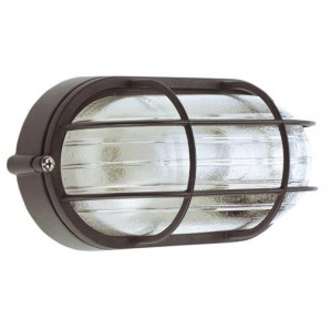 Exterior lighting - Plafón Industrial  IP44 Oval Negro