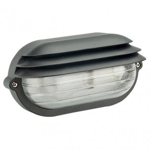 Exterior lighting - Plafón Palpebra IP54  Oval Negro