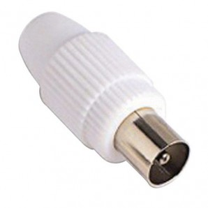 Accessories TV - Conector TV Macho Recto 9,5 mm.