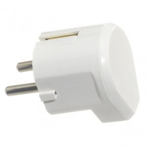 Electrical equipment - Clavija / Enchufe Salida Lateral 16 A. 250 V. Blanca