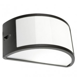 Exterior lighting - Plafón Aplique IP44  1/2 Luna Abierto Negro
