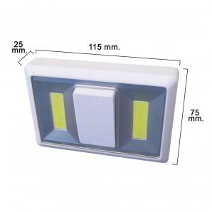 Electrical equipment diverse - Luz Led Para Pared Con Interruptor (Fijación Mediante Pegatina, Iman o Tornillos)