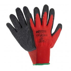 "Security and clothing - Guantes Latex / Nylon Gripflex Talla  9"" (Par)"