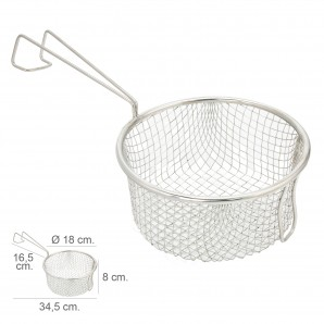 Kitchen tools - Cesta Freir Acero Inoxidable Con Mango Ø 18 cm.