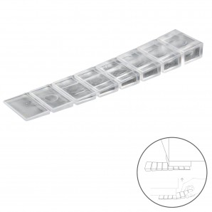 Stops for doors and shutters - Cuñas Calza Muebles Ajustable / Recortable Transparente (Blister 9 Piezas)