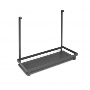 Furniture fittings - Emuca Kitchen utensil shelf, for hanging, steel, anthracite gray.