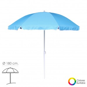 Umbrellas - Sombrilla Playa Poliester Ø 180 cm. Inclinable Colores Surtidos AFT 08042626