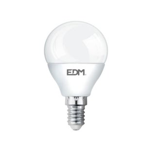 Packs LED bulbs - BOMBILLA ESFERICA LED 5W 400 LUMENS E14 3200K LUZ CALIDA LUMECO EDM 98323