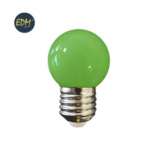 Led bulbs colors - BOMBILLA LED ESFERICA E27 1,5W 200 LUMENS VERDE  EDM 35442