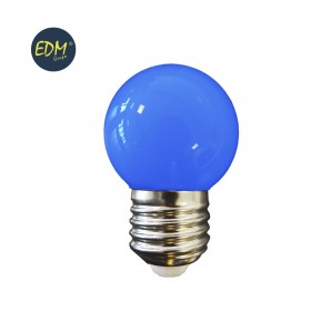 Led bulbs colors - BOMBILLA LED ESFERICA MATE E27 1,5W 200 LUMENS AZUL  EDM 35444