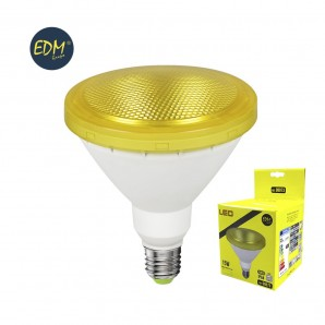 Led bulbs colors - BOMBILLA PAR38 LED 15W  1.200 LUMENS E27 IP64 LUZ AMARILLA  EDM 98873
