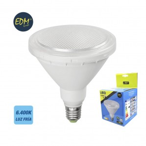 Led bulbs colors - BOMBILLA PAR38 LED 15W 1.200 LUMENS E27 IP64 6400K LUZ FRIA  EDM 98871