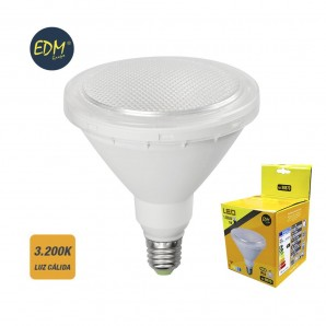 Led bulbs colors - BOMBILLA PAR38 LED 15W 1.200 LUMENS E27 IP64 3200K LUZ CALIDA  EDM 98870