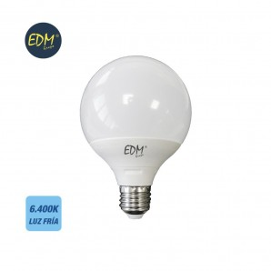BOMBILLA GLOBO 95MM LED 10W E27 6400K LUZ FRIA  EDM 98800