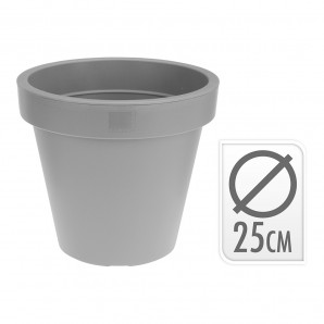 Add-ons garden - Maceta inyeccion gris ø 25cm EDM 74835