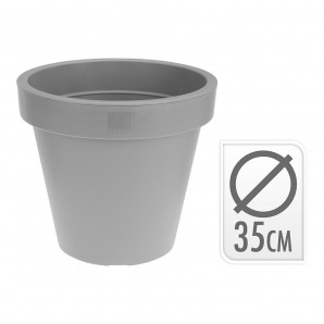 Add-ons garden - Maceta inyeccion gris ø 35cm EDM 74837