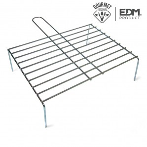 Parrilla con pie simple 40x27cm edm EDM 76837