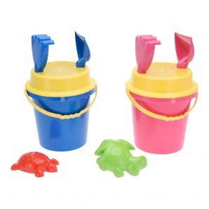 Camping, beach accessories - Set cubo infantil playa 5 accesorios EDM 81027