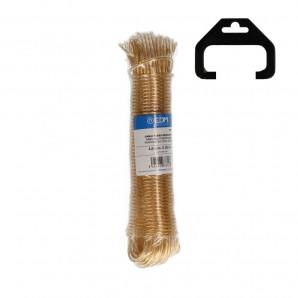 Ropes and wires - Madeja cable acero plastificado 25mts oro EDM 87810
