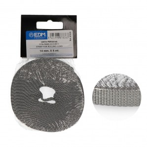 Cinta persiana mini 5mts gris 14mm EDM 87836
