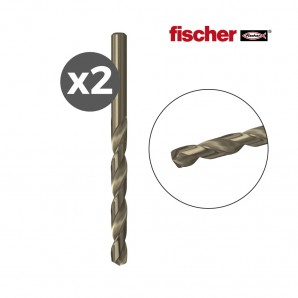 Pack 2 brocas  metal hss-co 2,0x24/49 / 2k  fischer EDM 96230