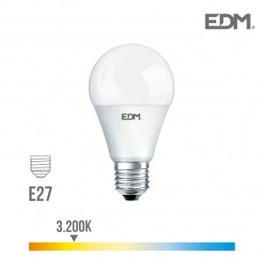 Bombilla standard led e27 17w 1800 lm 3200k luz calida edm EDM 98353